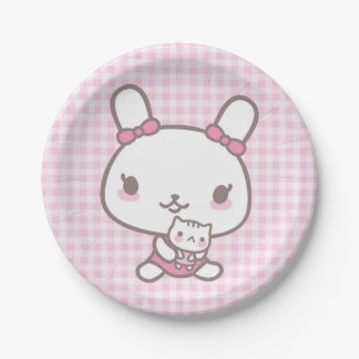 Bunny & Kitty doll - Paper Plate