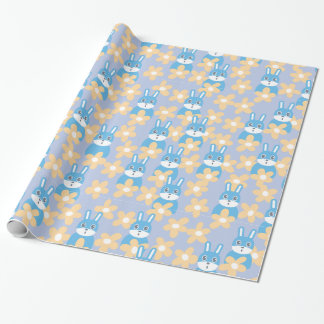 Bunny n' Flowers Wrapping Paper