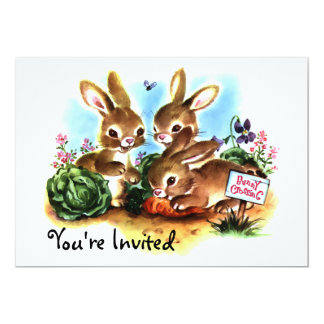 "Bunny Patch (D) 5"" X 7"" Invitation Card"