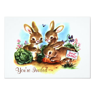 "Bunny Patch 5"" X 7"" Invitation Card"