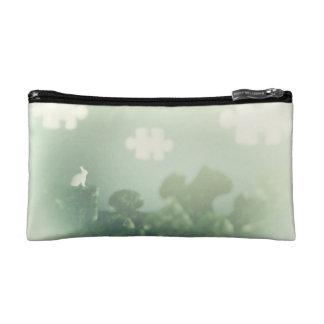BUNNY Puzzle Land Jigsaw Clouds Grass Customizable Makeup Bag