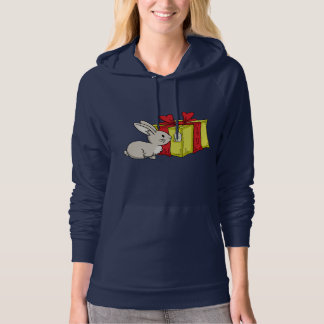 Bunny with  a Holiday Gift Sweatshirt