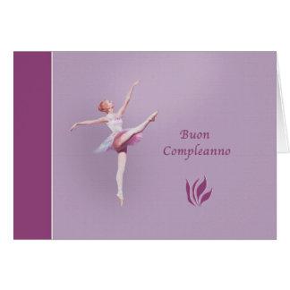 Buon Compleanno, Birthday, Italian, Ballerina Card