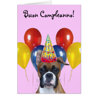 Buon Compleanno Boxer Greeting Card