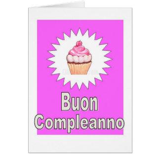 Buon Compleanno - Happy Birthday in Italian Card