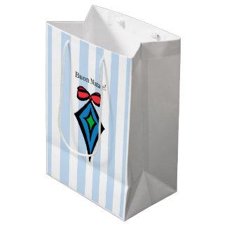 Buon Natale Diamond Ornament Medium Shopping Bag