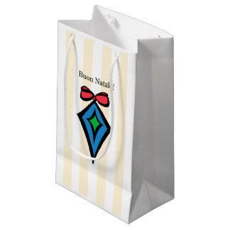Buon Natale Diamond Ornament Small Shopping Bag
