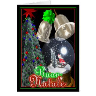 Buon Natale Italian Santa Merry Christmas card