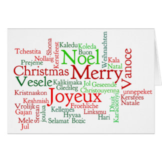 Buon Natale! Merry Christmas in Italian wf Card