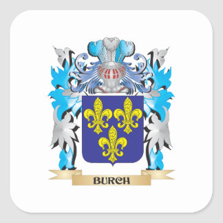Burch Coat of Arms Square Sticker