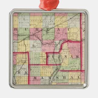Bureau, Putnam, Stark, Marshall counties Christmas Ornament
