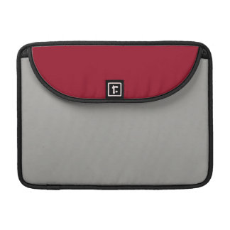 Burgendy and Gray MacBook Pro Sleeve