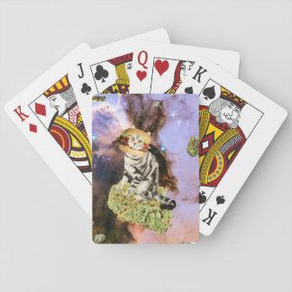 burger weed kat playing cards