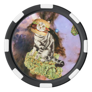 burger weed kat set of poker chips