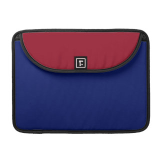 Burgundy and Blue MacBook Pro Sleeve