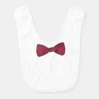 Burgundy Bow Tie Bowtie Wedding Prom Baby Bib
