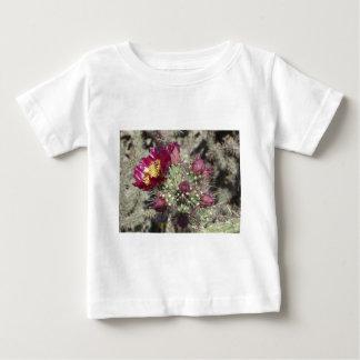 Burgundy Cactus Flowers Baby T-Shirt