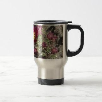 Burgundy Cactus Flowers Travel Mug