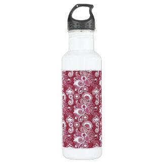 Burgundy Floral 710 Ml Water Bottle