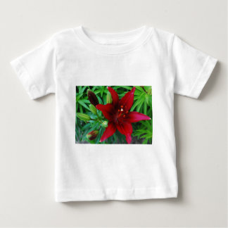 Burgundy Lily Baby T-Shirt