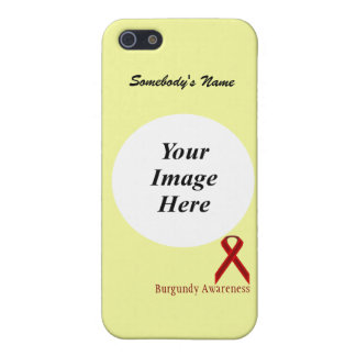 Burgundy Stnd Ribbon Template by Kenneth Yoncich iPhone 5 Cover