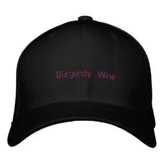 Burgundy Wine Embroidered Hat