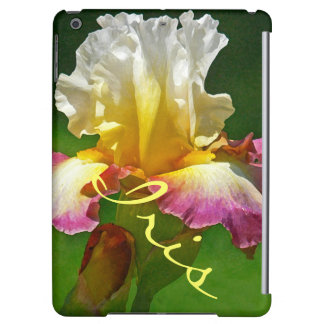 """BURGUNDY, YELLOW & WHITE IRIS"" iPAD AIR CASE"