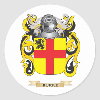 Burke Coat of Arms (Family Crest) Round Sticker