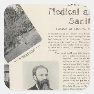 Burke's Sanitarium, California Square Sticker