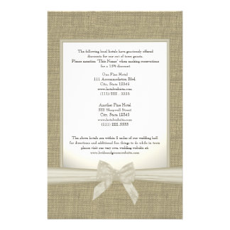 Burlap and Bow Directions Stationery