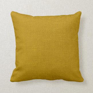 Burlap Simple Mustard Yellow Throw Pillow