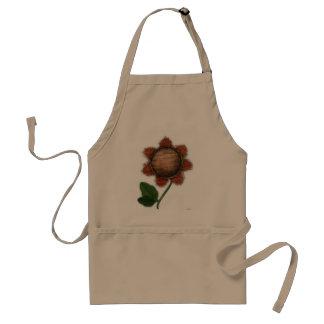 burlap sunflower standard apron