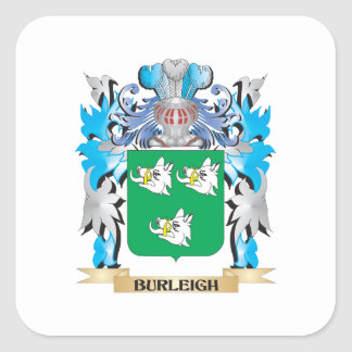 Burleigh Coat of Arms Square Sticker