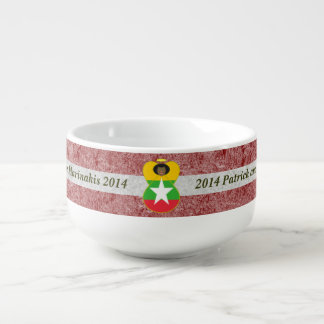 Burma or Myanmar Angel Flag Black Hair Soup Mug