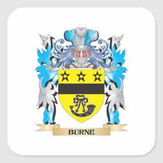 Burne Coat of Arms Square Sticker