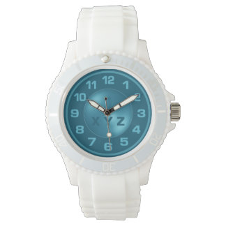 Burned Turquoise Custom Initials watches