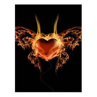 Burning Heart Postcard