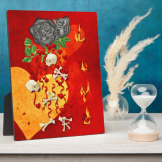 Burning Love Fire Photo Plaques