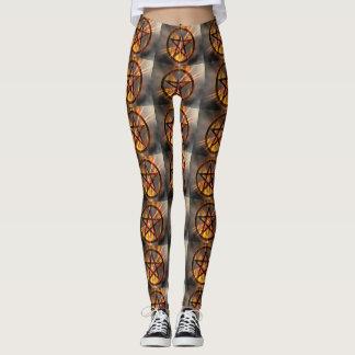 Burning Pentagram Leggings