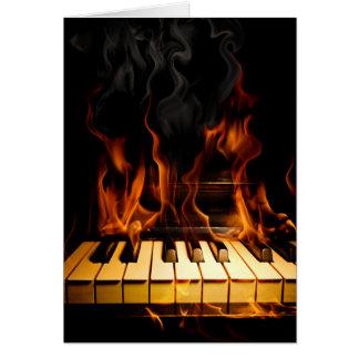 Burning Piano Note Card