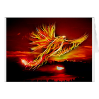 Burning Red Flying Phoenix Garden of Tarot Card