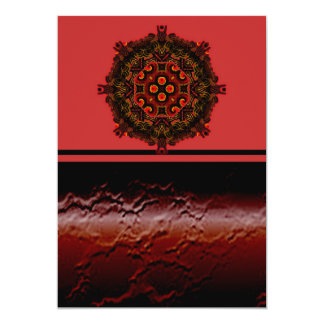 Burning Red Magma Waves Big Paper Cut Out Card