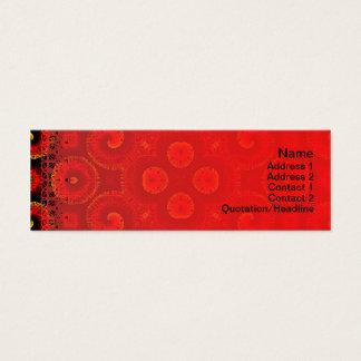 Burning Red Magma Waves Big Paper Cut Out Mini Business Card