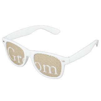 Burnished Matte Gold Wedding Retro Sunglasses