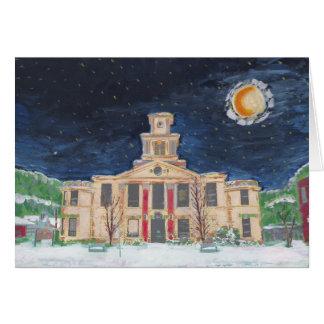 Burnsville Town Hall Starry Night Card