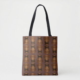 Burnt gold mulberry capital tote bag
