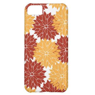 Burnt Orange and Orange Flower Blossoms Flora iPhone 5C Covers