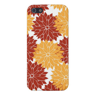 Burnt Orange and Orange Flower Blossoms Floral Cover For iPhone 5/5S