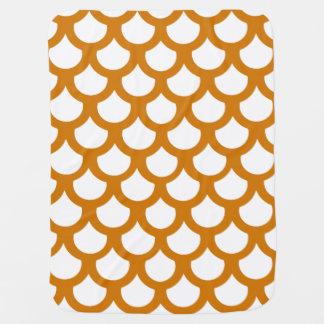 Burnt Orange Fish Scale 1 Buggy Blanket