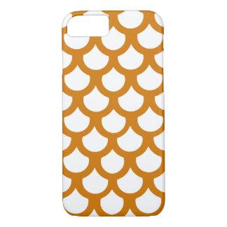Burnt Orange Fish Scale 1 iPhone 7 Case
